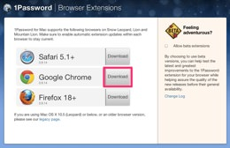 1Password for Mac | Browser Extensions