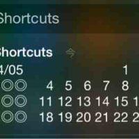 iphoneの通知センターにカレンダー